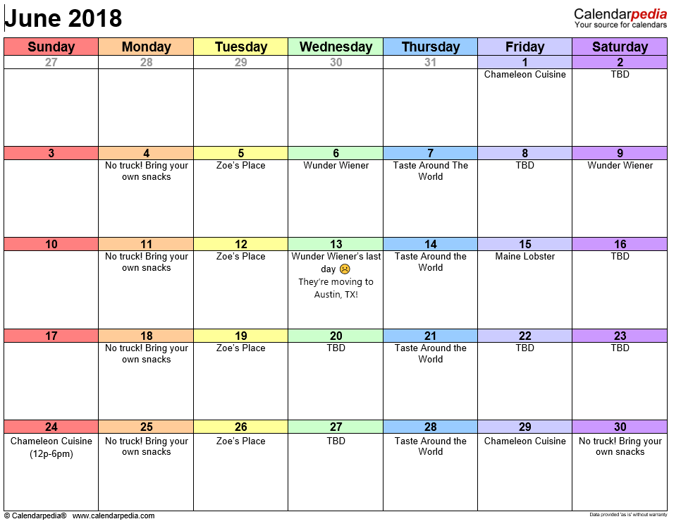 Food Truck Long Beach Schedule